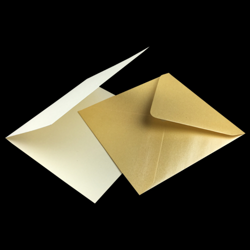 125mm Square Ivory Card Blanks and Envelopes