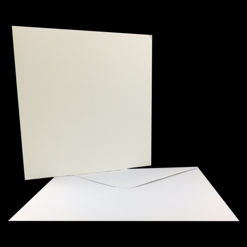140mm SQUARE GLOSS CARD BLANKS & ENVELOPES (PACK OF 10)