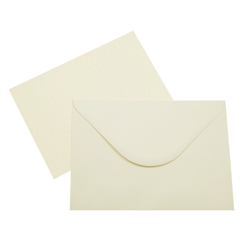 A5 IVORY HAMMER CARD BLANKS AND IVORY ENVELOPES (PACK OF 10)
