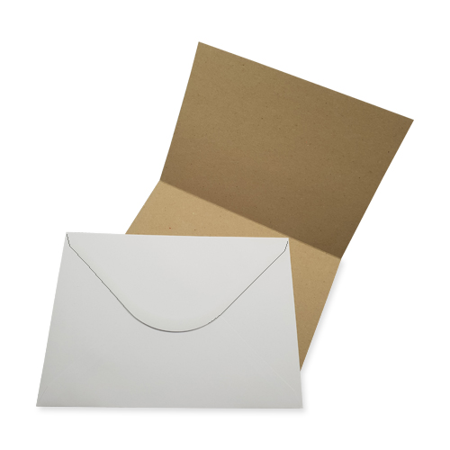 A5 KRAFT CARD BLANKS AND WHITE ENVELOPES (PACK OF 10)