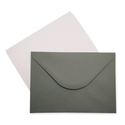 A5 WHITE CARD BLANKS AND GREY ENVELOPES (PACK OF 10)