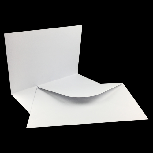 A5 WHITE HAMMER CARD BLANKS AND WHITE ENVELOPES (PACK OF 10)