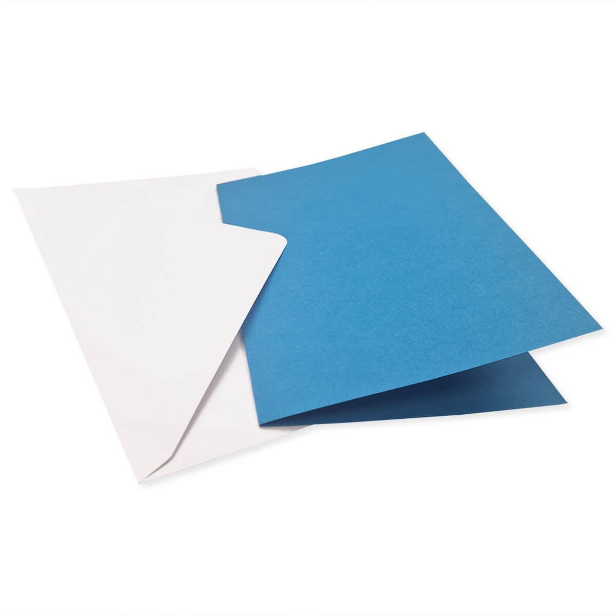 A6 DEEP BLUE CARD BLANKS & WHITE ENVELOPES (PACK OF 10)