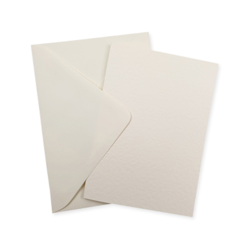 A6 Ivory Hammer Card Blanks With Ivory Envelopes