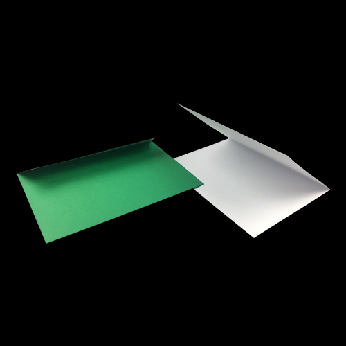 A6 White Card Blanks and Green Envelopes