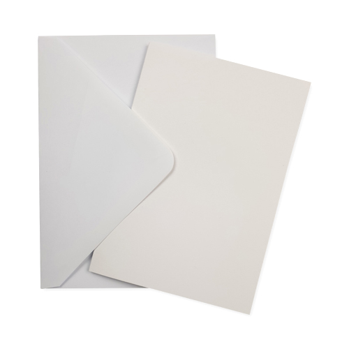 A6 WHITE CARD BLANKS & WHITE ENVELOPES (PACK OF 10)