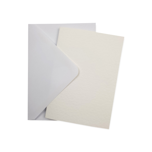 A6 WHITE HAMMER CARD BLANKS & WHITE ENVELOPES (PACK OF 10)