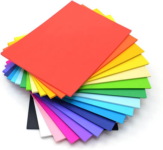 A4 ASSORTED COLOURED CARD 240gsm (Box of Approx 200)