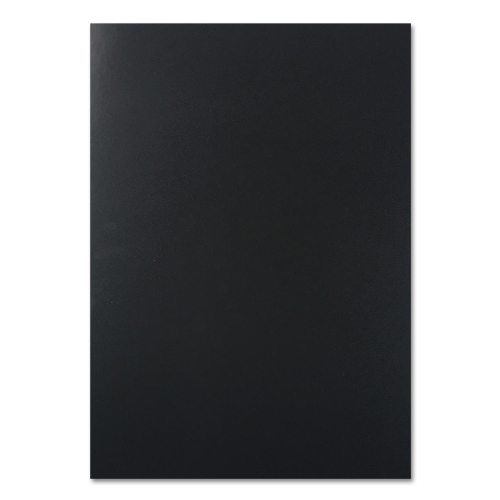 A4 Black Chromolux Black Card