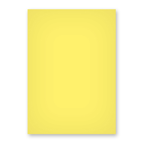 A3 DAFFODIL YELLOW CARD