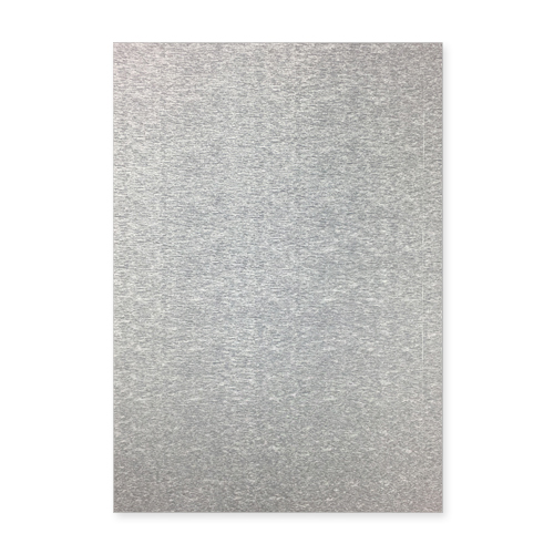 BRUSHED METALLIC SILVER CARD (PACK OF 2)